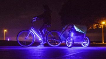 Install Third Kind<sup>®</sup> bicycle lights on any bicycle in 30 seconds for the most fun and safest light available