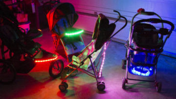 Install Third Kind<sup>®</sup> lights to any stroller in under 30 seconds